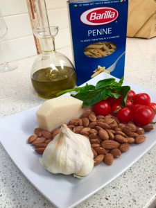 ingredients for tomato pesto